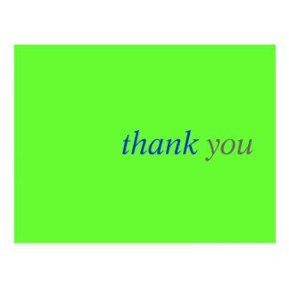 Cartões de agradecimentos simples:  Cartão Cartão Postal