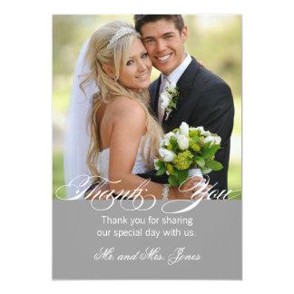 Cartões de agradecimentos simples cinzentos do convite 12.7 x 17.78cm