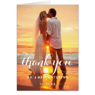 Cartões de agradecimentos simples da foto do