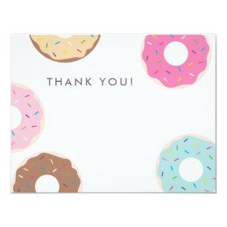Cartões de agradecimentos simples da rosquinha