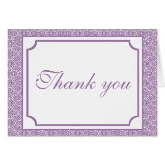 Cartões de agradecimentos simplesmente clássicos