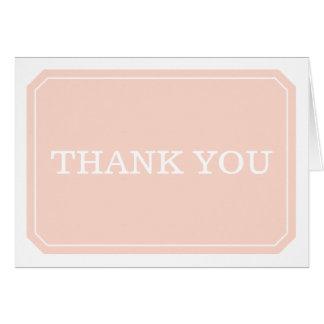 Cartões de agradecimentos simplesmente elegantes