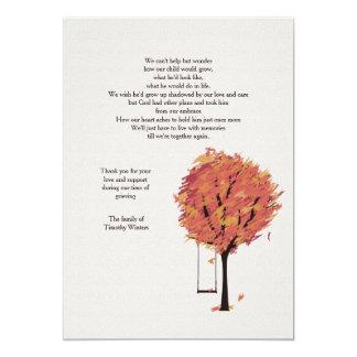 Cartões de agradecimentos sós do falecimento convite 12.7 x 17.78cm