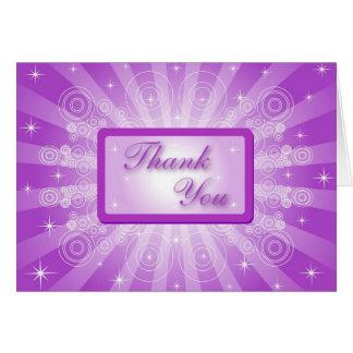 Cartões de agradecimentos Sparkling