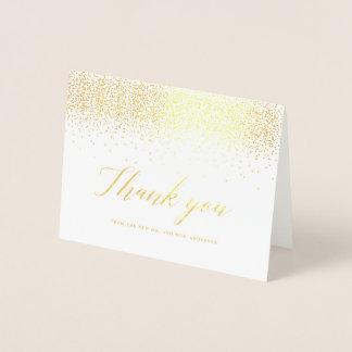 Cartões de agradecimentos Sparkling da folha de