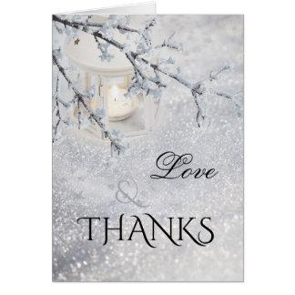 Cartões de agradecimentos Sparkling da foto do
