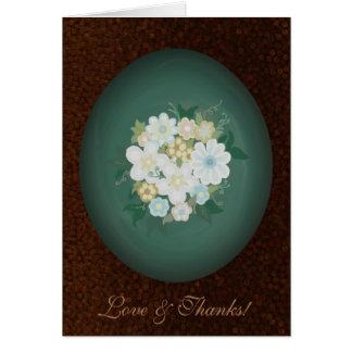 Cartões de agradecimentos Textured florais da