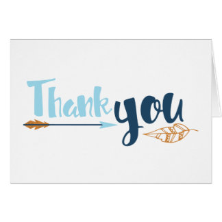 Cartões de agradecimentos tribais