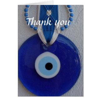 Cartões de agradecimentos turcos do olho mau do