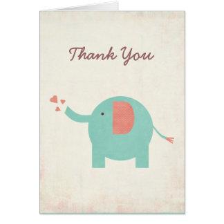 Cartões de agradecimentos unisex retros doces do
