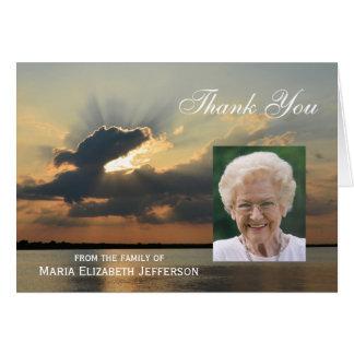 Cartões de agradecimentos vazios da simpatia do