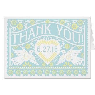 Cartões de agradecimentos vazios personalizados