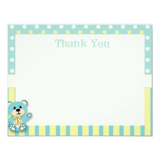 Cartões de agradecimentos verdes & amarelos do convite 10.79 x 13.97cm