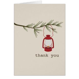 Cartões de agradecimentos verdes da árvore da