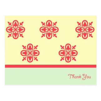 Cartões de agradecimentos verdes da deusa cartão postal