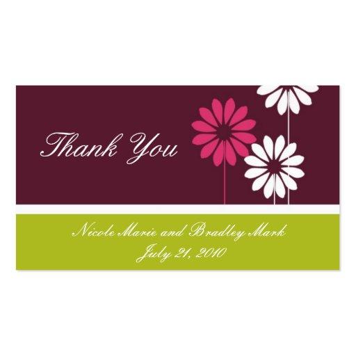 Cartões de agradecimentos verdes do casamento da m cartoes de visita