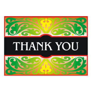 Cartões de agradecimentos verdes e pretos decorati modelos cartões de visitas