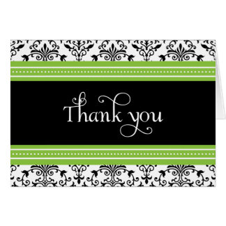 Cartões de agradecimentos verdes & pretos