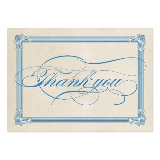 Cartões de agradecimentos vermelhos, brancos & azu cartoes de visita