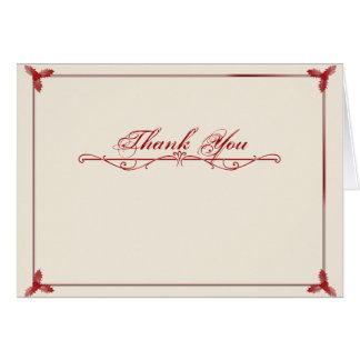 Cartões de agradecimentos vermelhos brancos do
