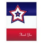 Cartões de agradecimentos vermelhos das estrelas convite
