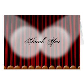 Cartões de agradecimentos vermelhos do casamento