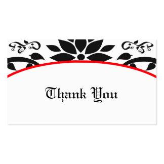 Cartões de agradecimentos (vermelhos) do jardim cartão de visita
