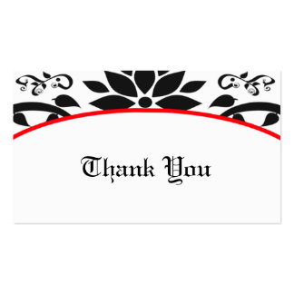 Cartões de agradecimentos (vermelhos) do jardim de cartão de visita