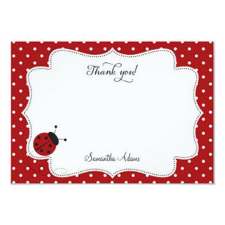 Cartões de agradecimentos vermelhos do joaninha convite 8.89 x 12.7cm
