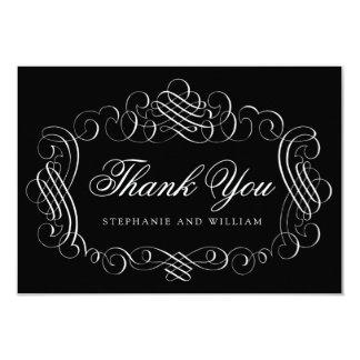 Cartões de agradecimentos vermelhos ornamentado convite 8.89 x 12.7cm