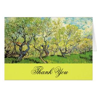 Cartões de agradecimentos, Vincent van Gogh, pomar