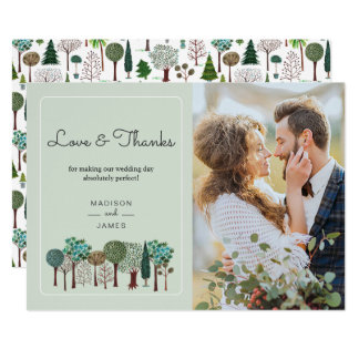 Cartões de agradecimentos Wedding da floresta | |