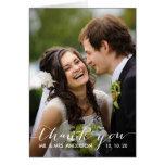 Cartões de agradecimentos Wedding simples da foto