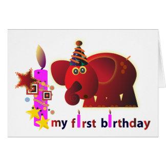 Cartões de aniversário animais: Primeiro