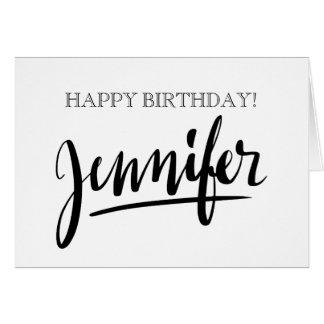 Cartões de aniversário conhecidos escritos à mão