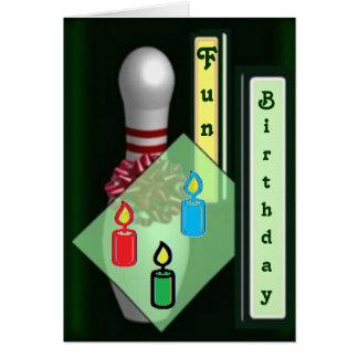 Cartões de aniversário da boliche