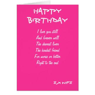 cartões de aniversário da Ex-esposa