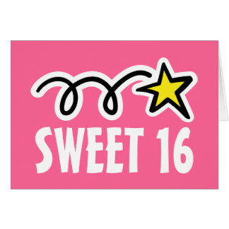 Cartões de aniversário do doce dezesseis (16)