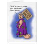 Cartões de aniversário engraçados: A gravidade sug