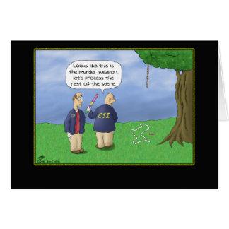 Cartões de aniversário engraçados: CSI Piñata