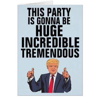 Cartões de aniversário engraçados de Donald Trump,