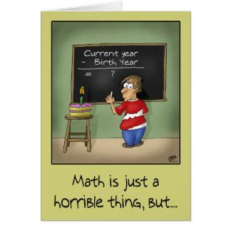 Cartões de aniversário engraçados: Matemática do