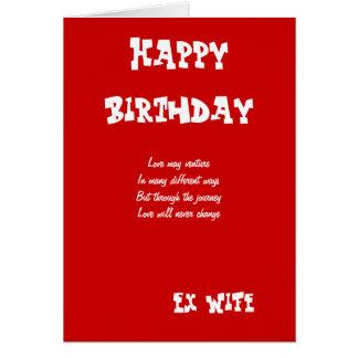 Cartões de aniversário ex da esposa