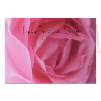 Cartão Cartões de aniversários da irmã