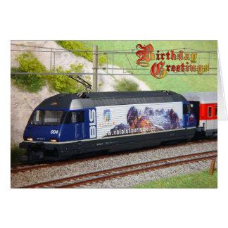 Cartões de aniversários - trem do suíço, Vancôver
