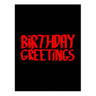 Cartões de aniversários. Vermelho e preto