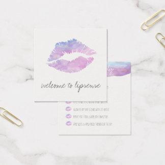 Cartões de aplicação da aguarela do Lilac