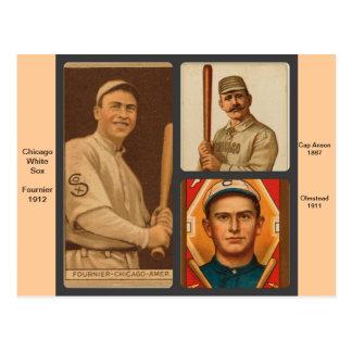 Cartões de basebol de Chicago White Sox do vintage