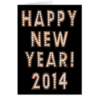 Cartões de bronze & pretos do feliz ano novo 2014