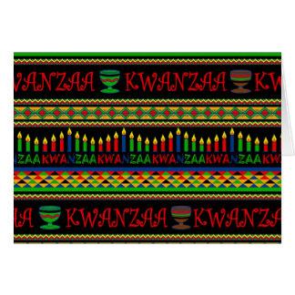 Cartões de cartões de natal de Kwanzaa da parede